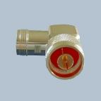 N - Winkeladapter, 50 Ohm, Stecker-Buchse, versilbert, Teflon